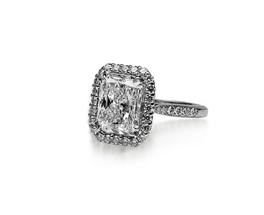 5ct GIA VS1/E Diamond, 0.80ctw Diamond 18K Ring - 2