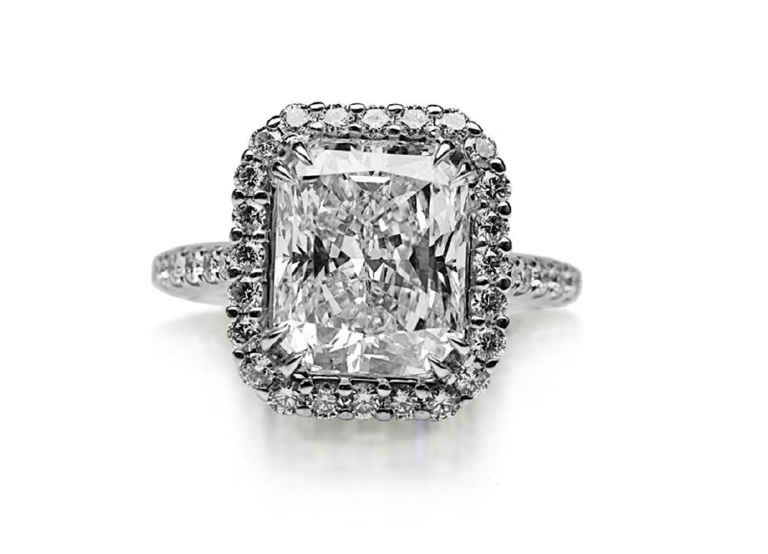 5ct GIA VS1/E Diamond, 0.80ctw Diamond 18K Ring - 4