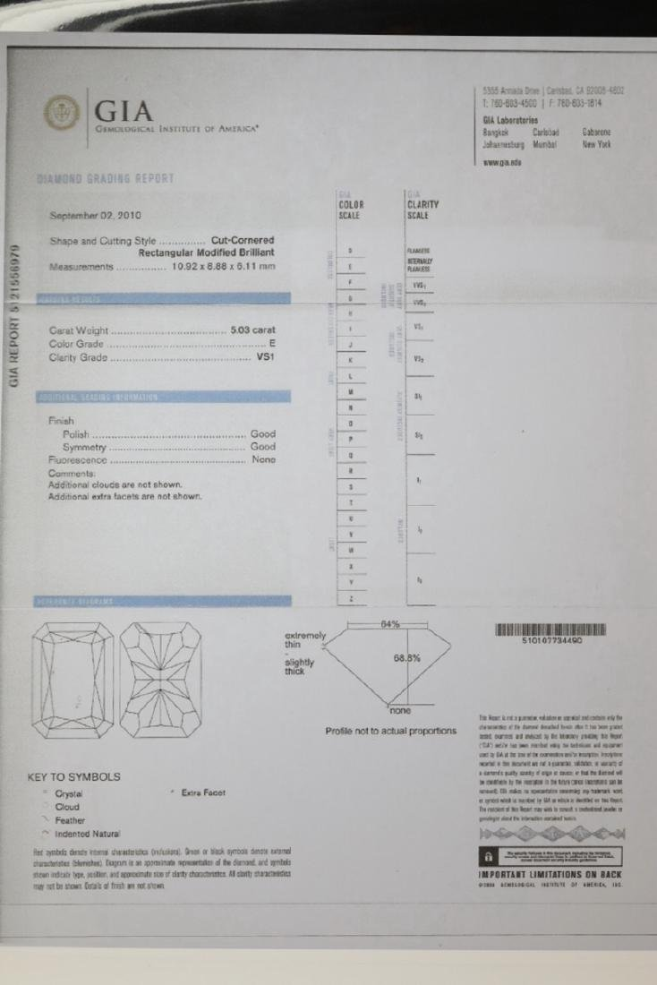 5ct GIA VS1/E Diamond, 0.80ctw Diamond 18K Ring - 8