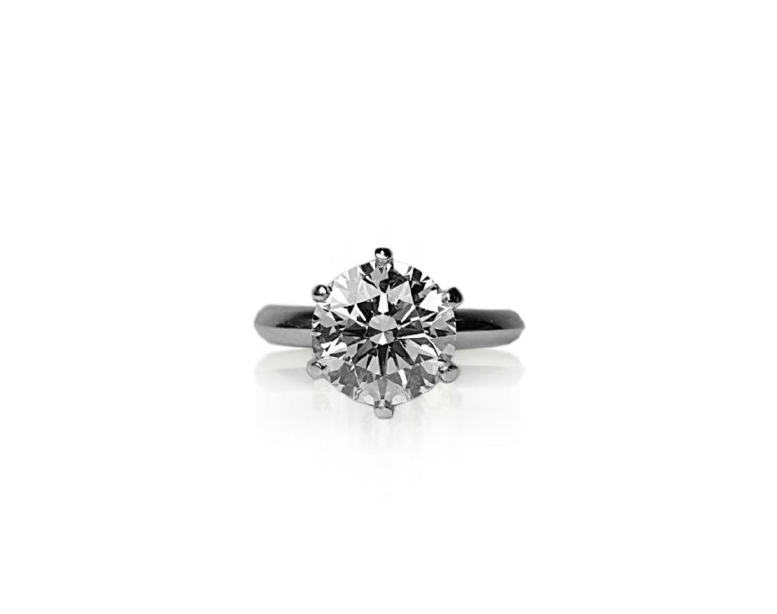 4.26ct GIA VVS2/E Diamond in Tiffany & Co. Ring