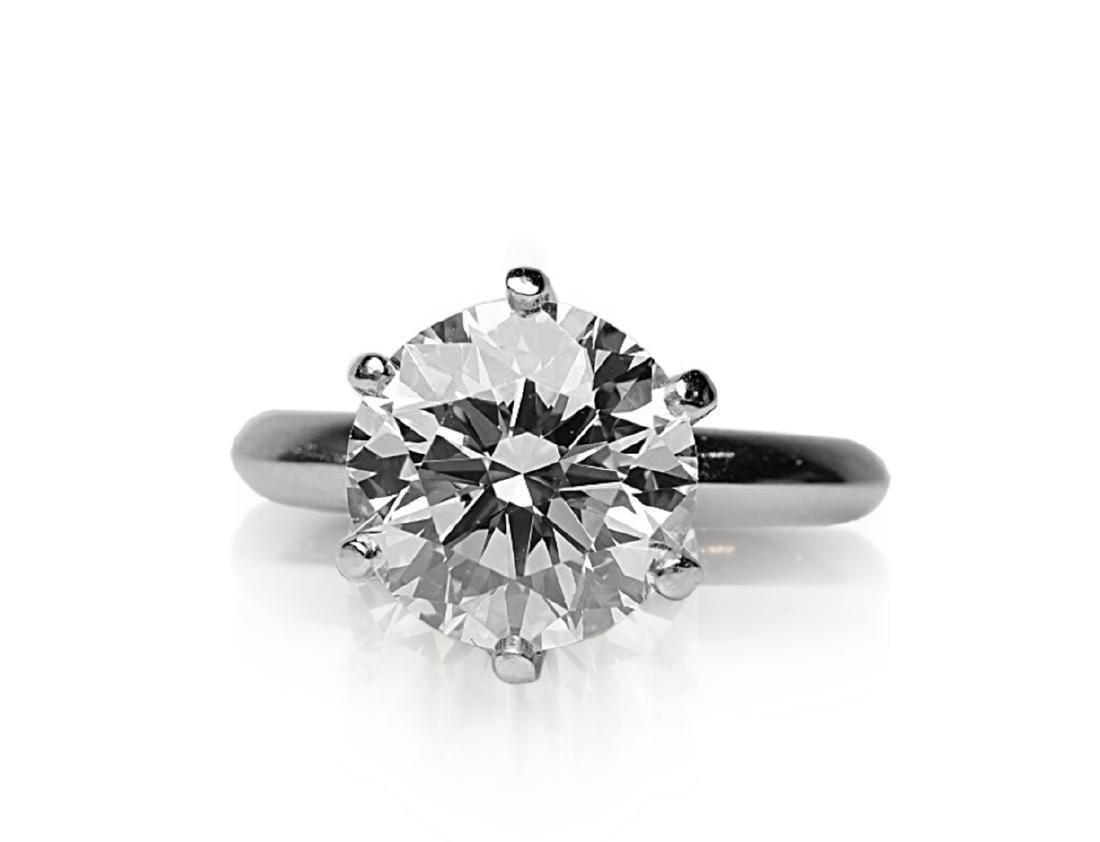 4.26ct GIA VVS2/E Diamond in Tiffany & Co. Ring - 4