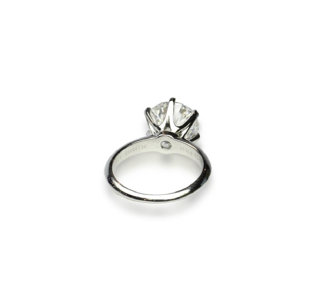4.26ct GIA VVS2/E Diamond in Tiffany & Co. Ring - 7