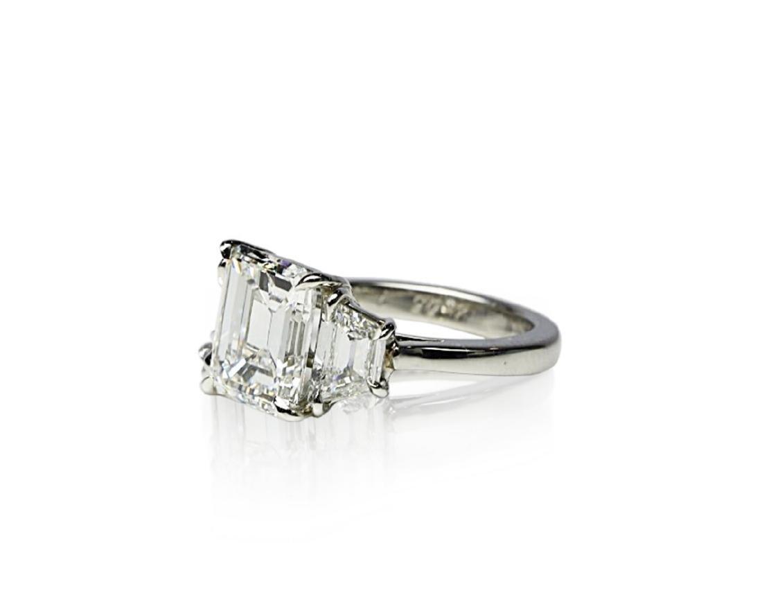 4.02ct GIA VVS1/F Diamond in Diamond & Platinum Ring - 2