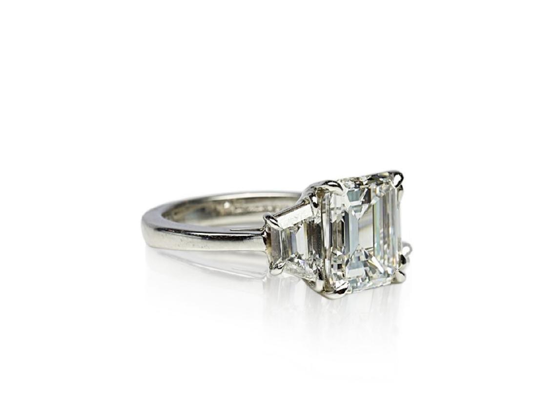 4.02ct GIA VVS1/F Diamond in Diamond & Platinum Ring - 3