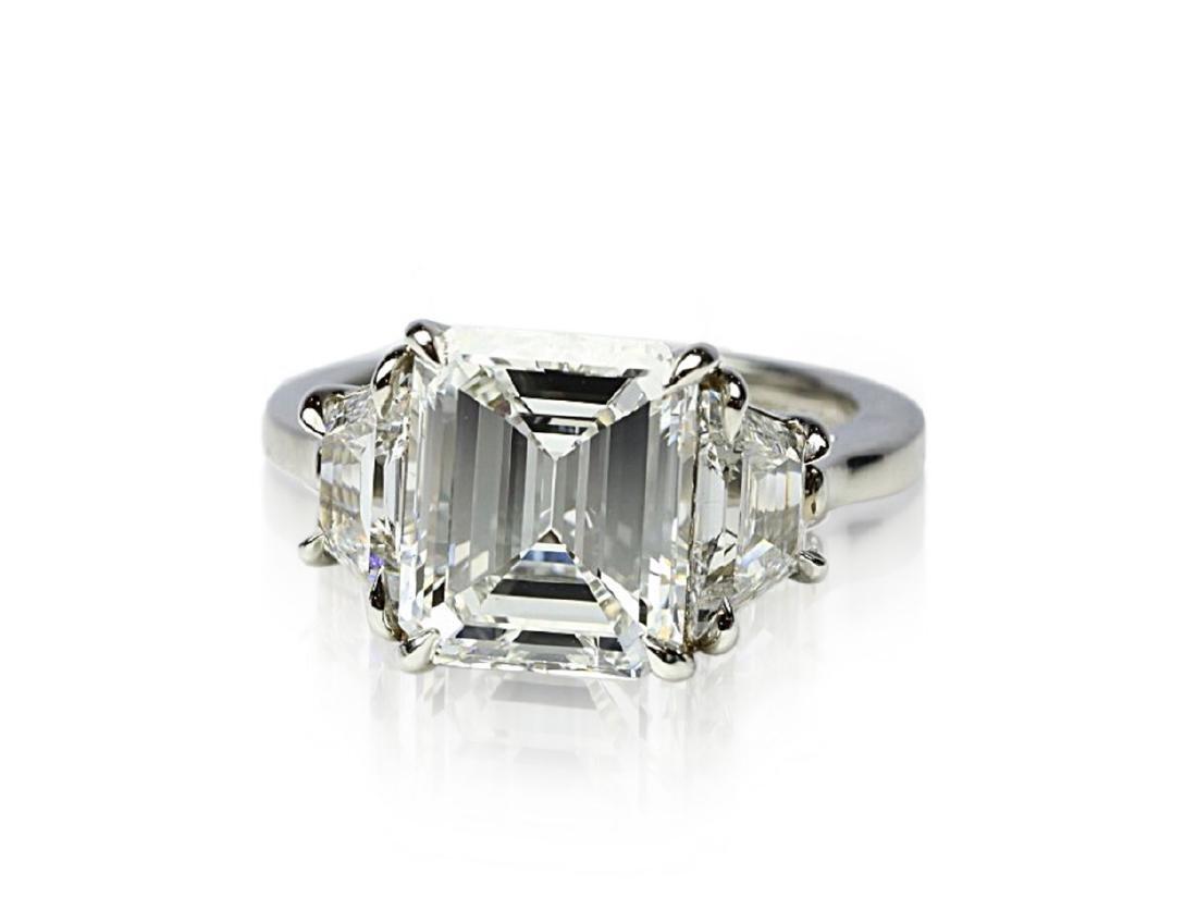 4.02ct GIA VVS1/F Diamond in Diamond & Platinum Ring - 4
