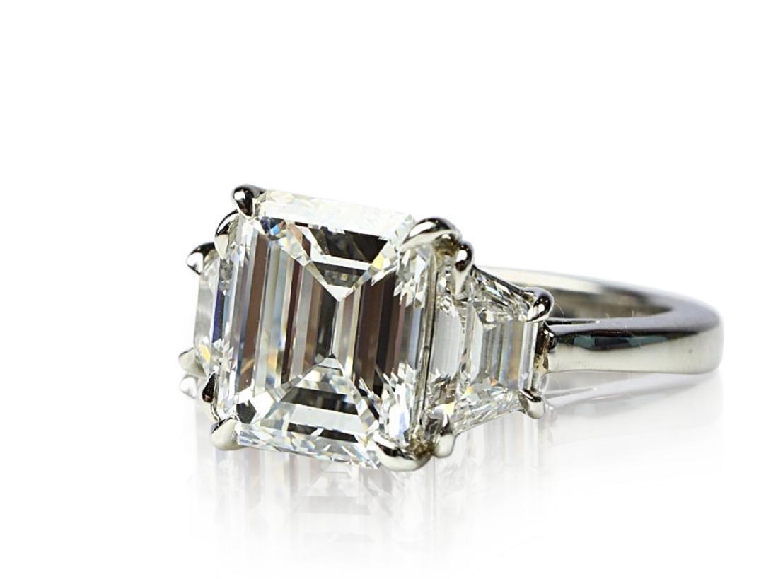 4.02ct GIA VVS1/F Diamond in Diamond & Platinum Ring - 5
