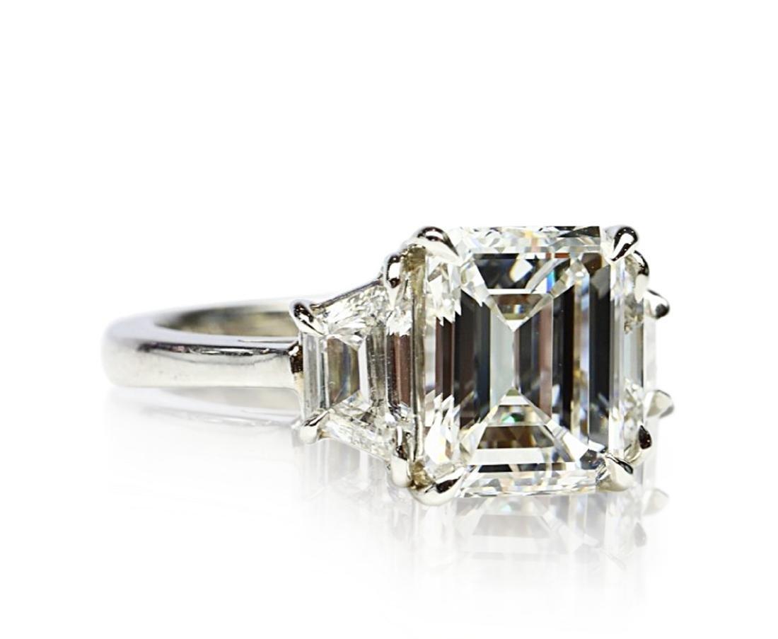 4.02ct GIA VVS1/F Diamond in Diamond & Platinum Ring - 6