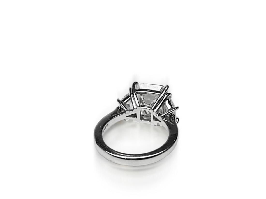 4.02ct GIA VVS1/F Diamond in Diamond & Platinum Ring - 7