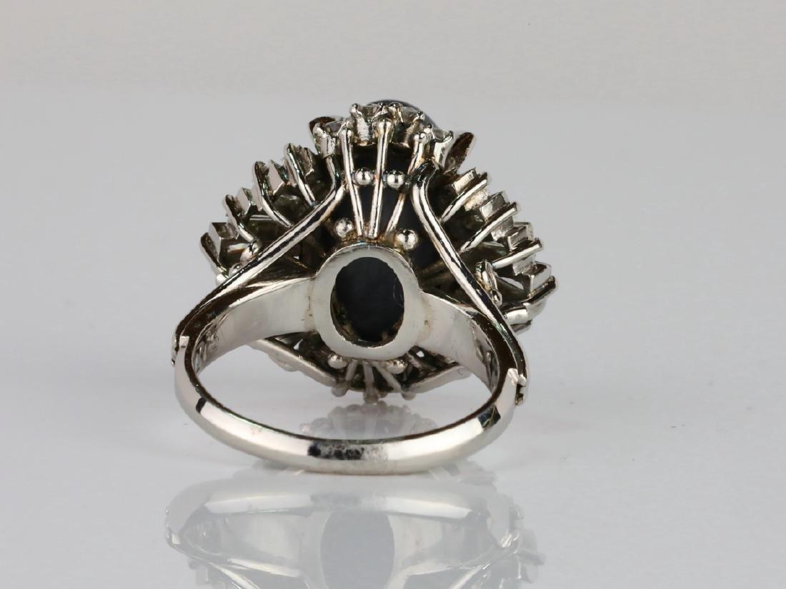 5.15ct Black Opal, 1.70ctw Diamond & Platinum Ring - 4