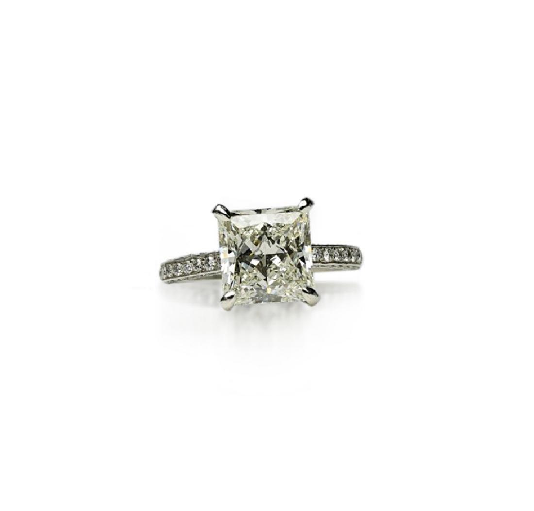 5.81ct GIA VVS2/I Diamond, 1ctw Diamond Plat. Ring