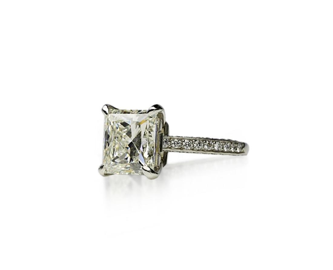 5.81ct GIA VVS2/I Diamond, 1ctw Diamond Plat. Ring - 2