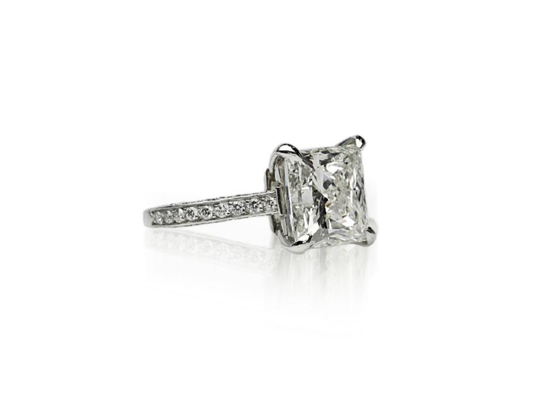 5.81ct GIA VVS2/I Diamond, 1ctw Diamond Plat. Ring - 3