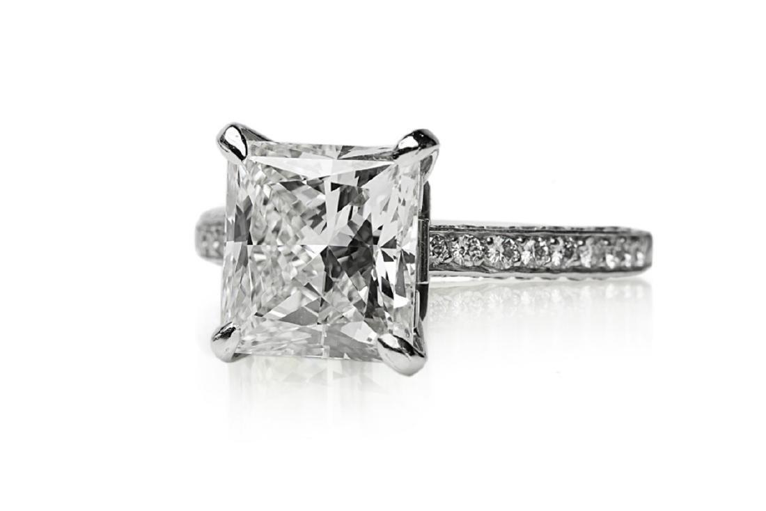 5.81ct GIA VVS2/I Diamond, 1ctw Diamond Plat. Ring - 5