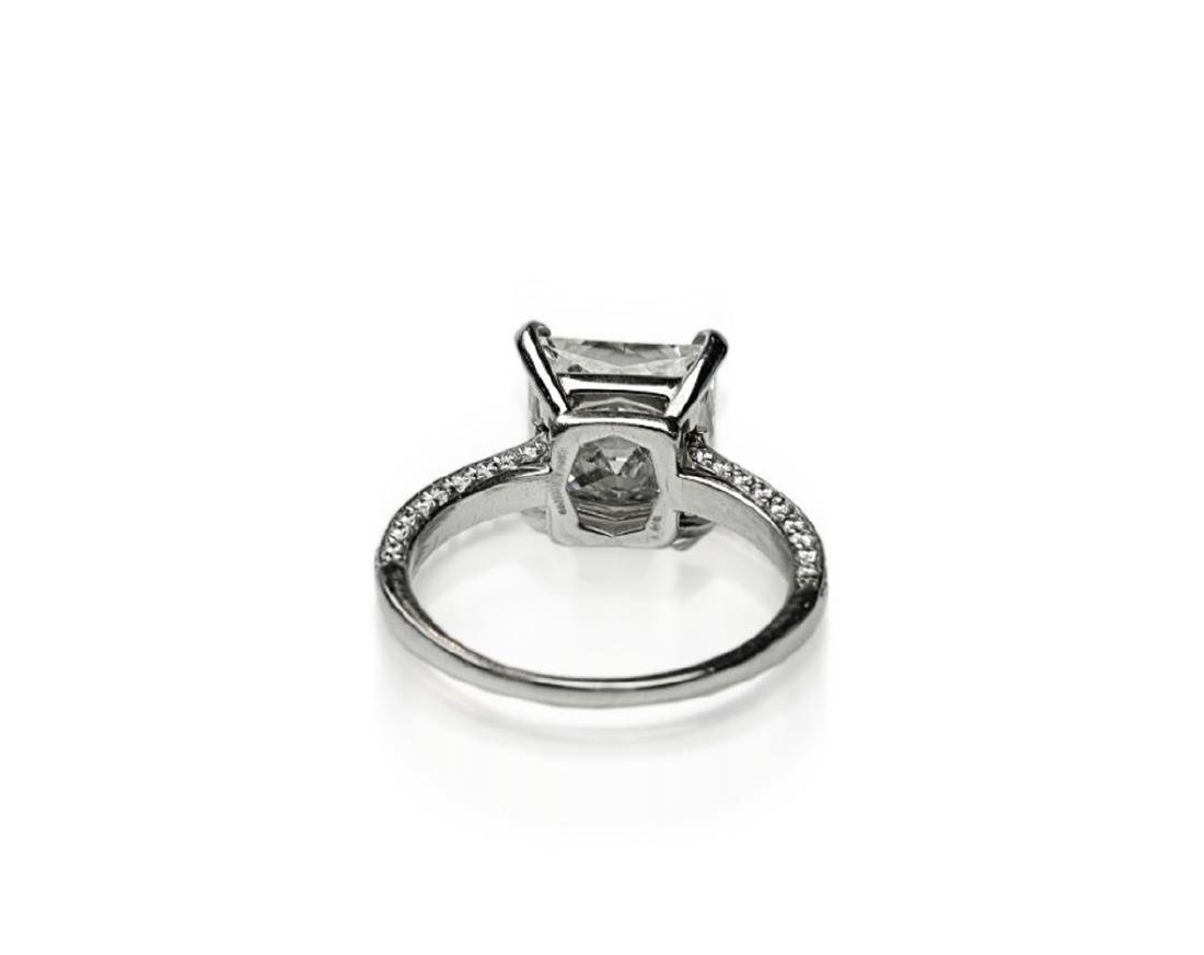 5.81ct GIA VVS2/I Diamond, 1ctw Diamond Plat. Ring - 7