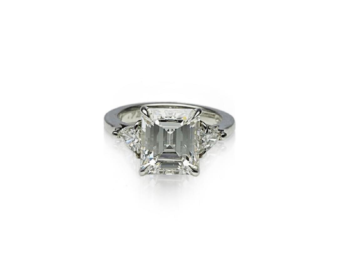 4.34ct GIA VVS1/F Diamond in Platinum Ring