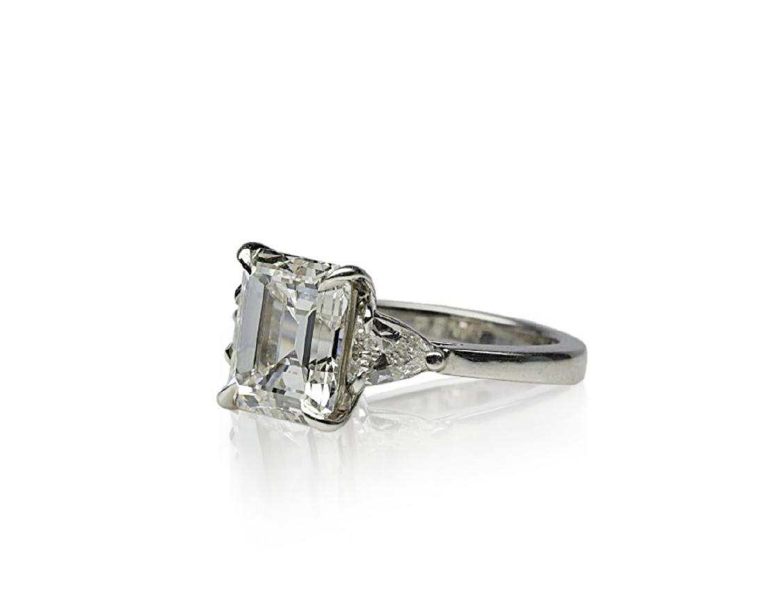 4.34ct GIA VVS1/F Diamond in Platinum Ring - 2