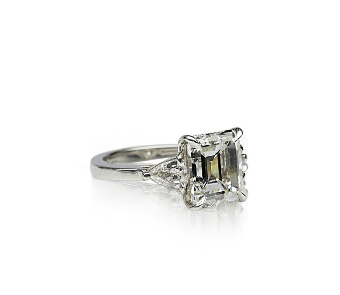 4.34ct GIA VVS1/F Diamond in Platinum Ring - 3