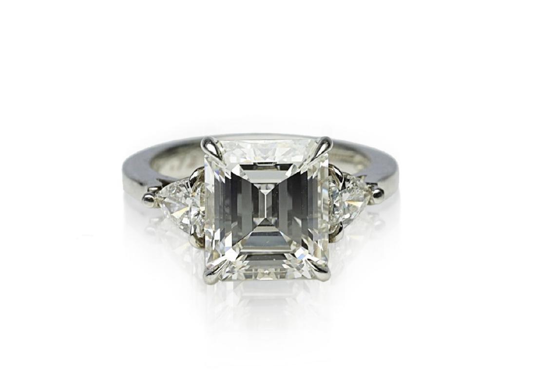 4.34ct GIA VVS1/F Diamond in Platinum Ring - 4