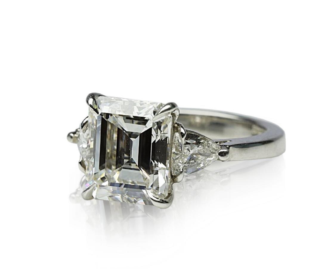 4.34ct GIA VVS1/F Diamond in Platinum Ring - 5