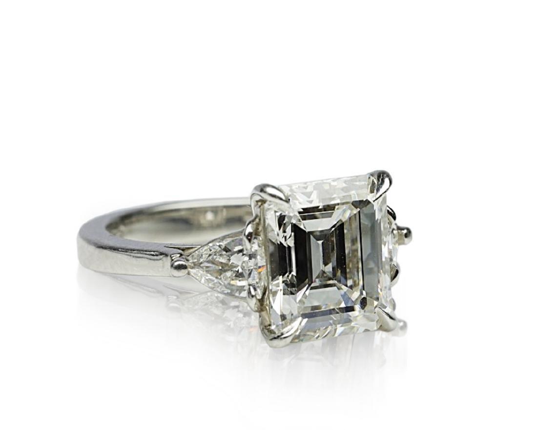 4.34ct GIA VVS1/F Diamond in Platinum Ring - 6