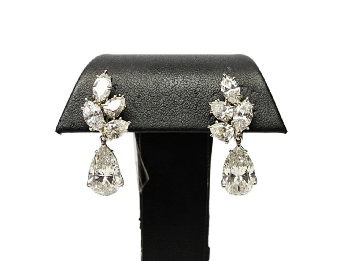 6.25ctw GIA VS1-VS2/G-H Pear-Cut Diamond Earrings