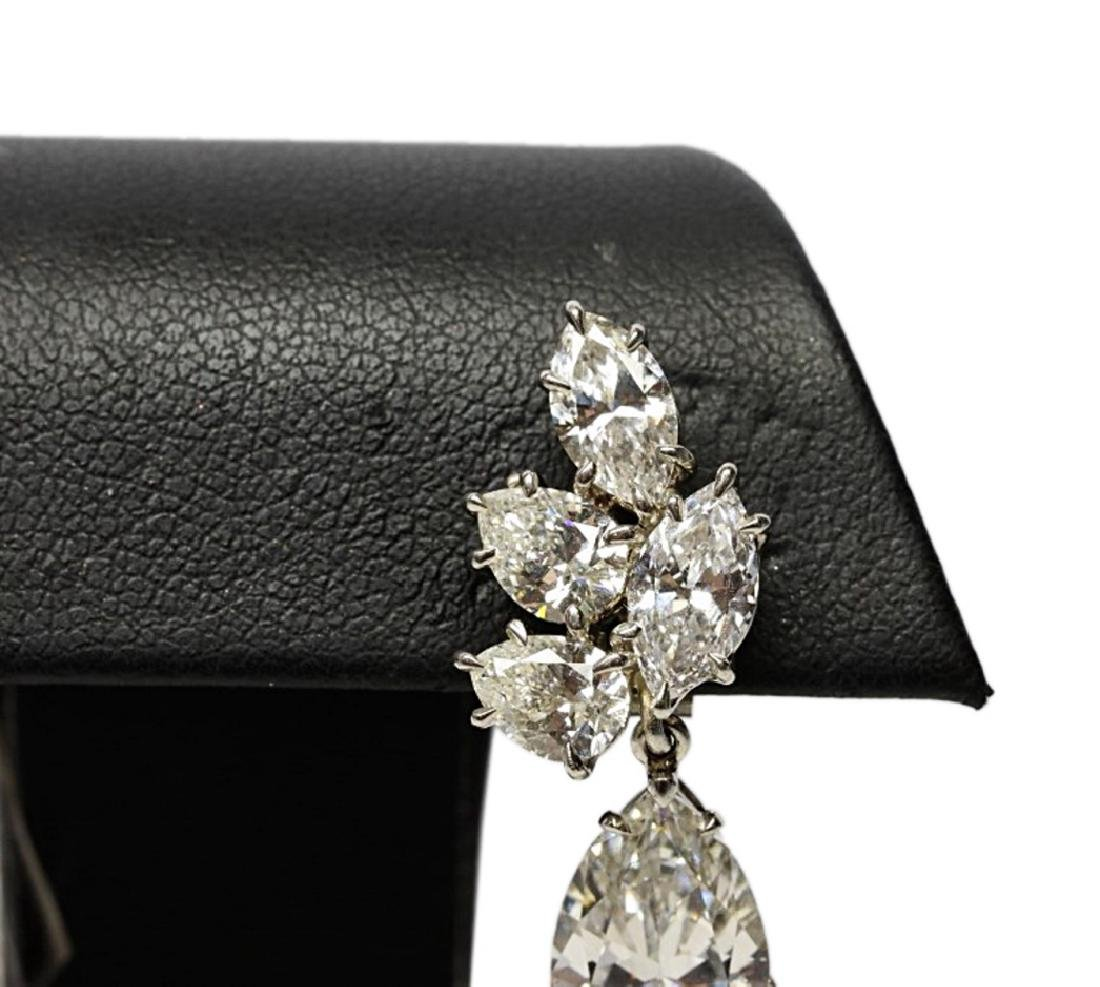 6.25ctw GIA VS1-VS2/G-H Pear-Cut Diamond Earrings - 2