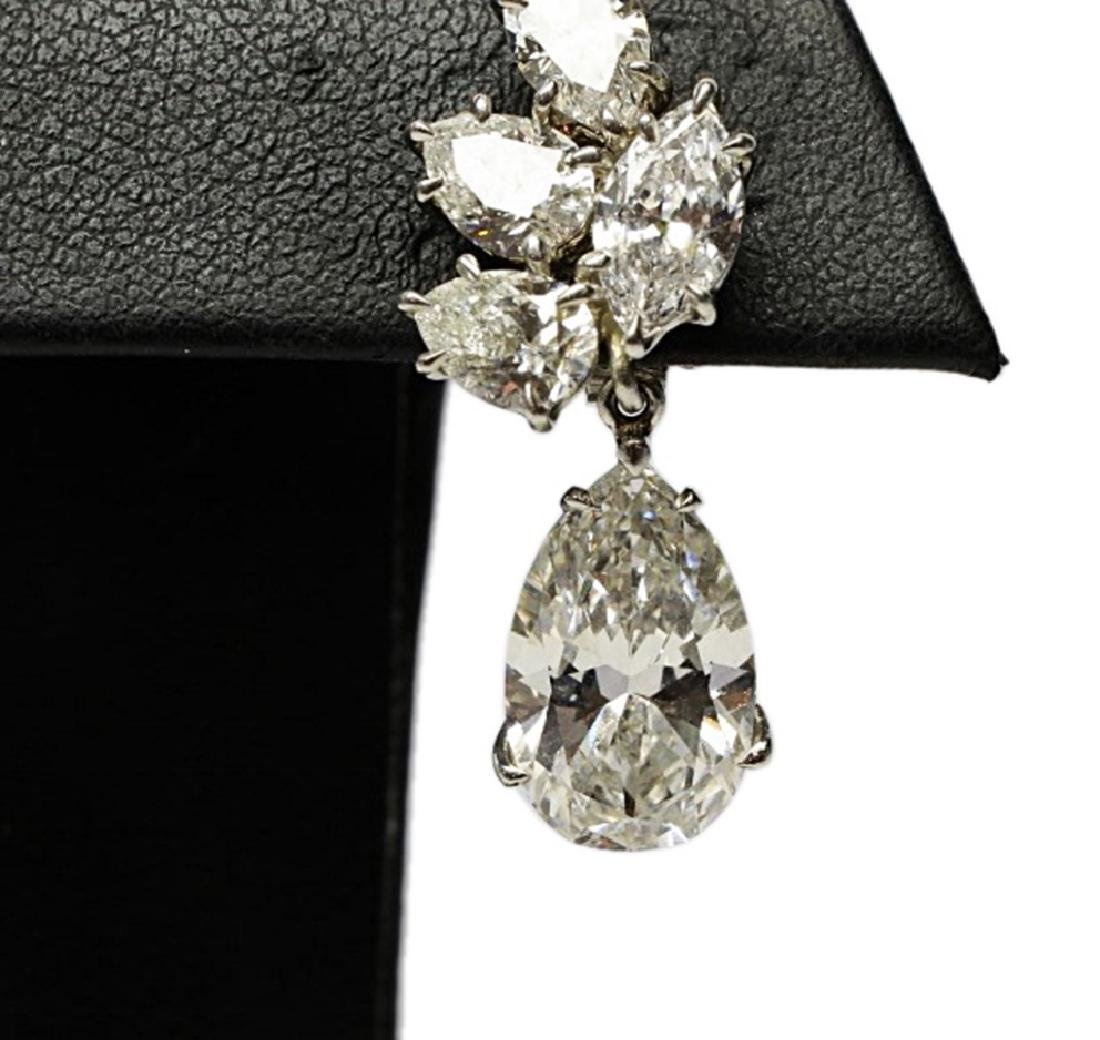 6.25ctw GIA VS1-VS2/G-H Pear-Cut Diamond Earrings - 3