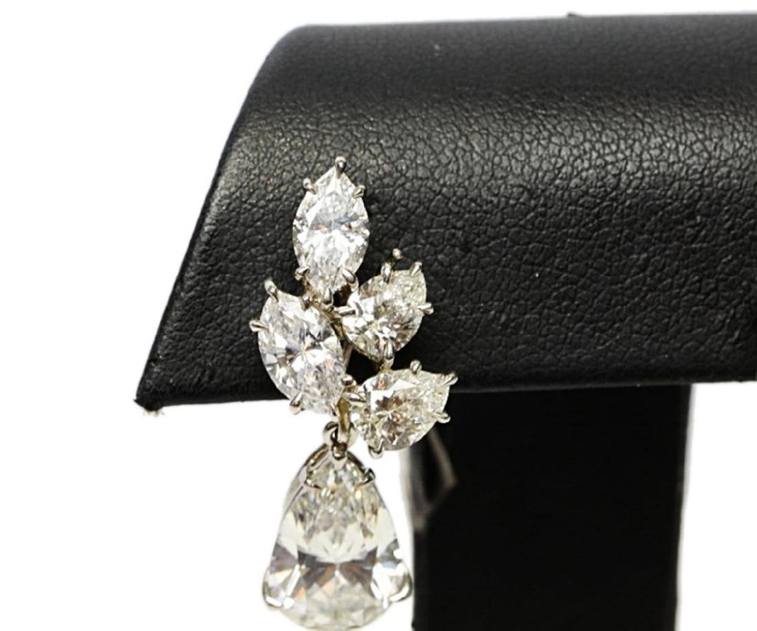 6.25ctw GIA VS1-VS2/G-H Pear-Cut Diamond Earrings - 4
