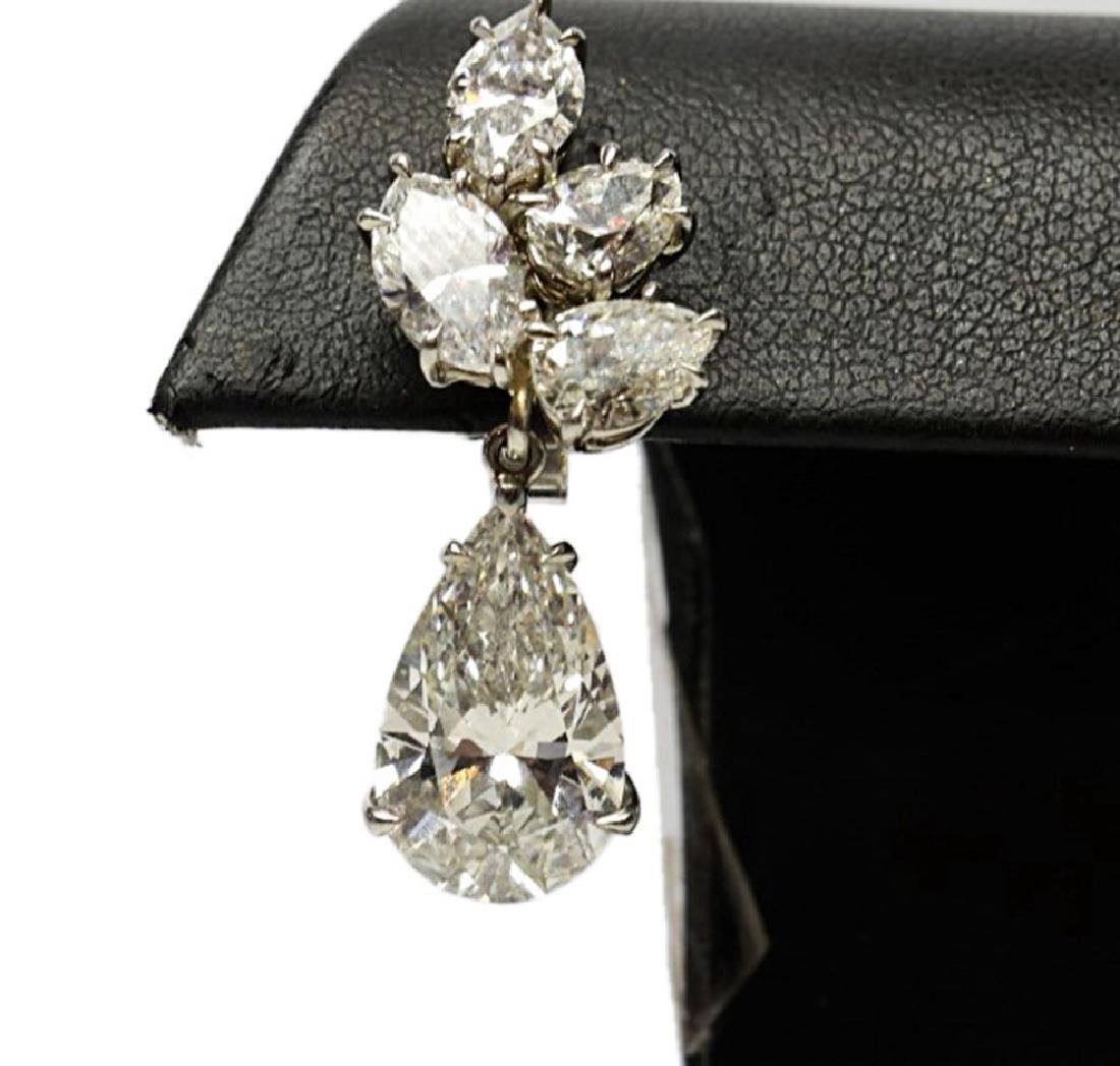 6.25ctw GIA VS1-VS2/G-H Pear-Cut Diamond Earrings - 5