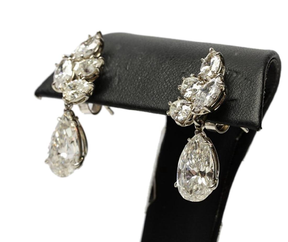 6.25ctw GIA VS1-VS2/G-H Pear-Cut Diamond Earrings - 6
