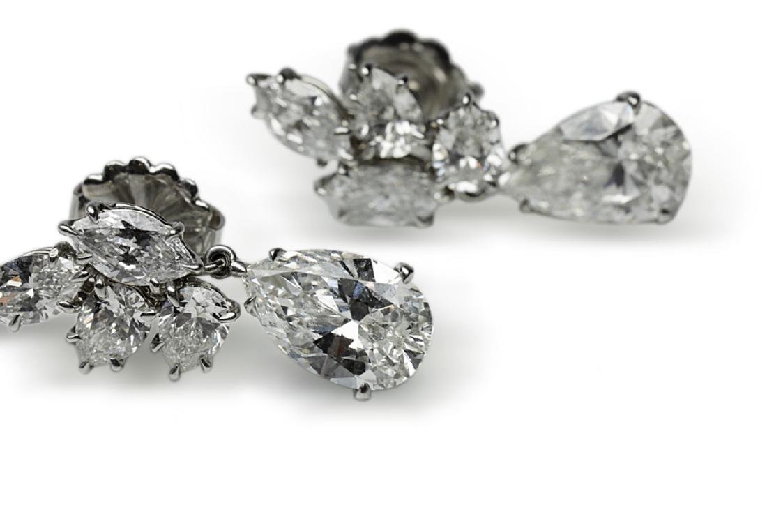 6.25ctw GIA VS1-VS2/G-H Pear-Cut Diamond Earrings - 7