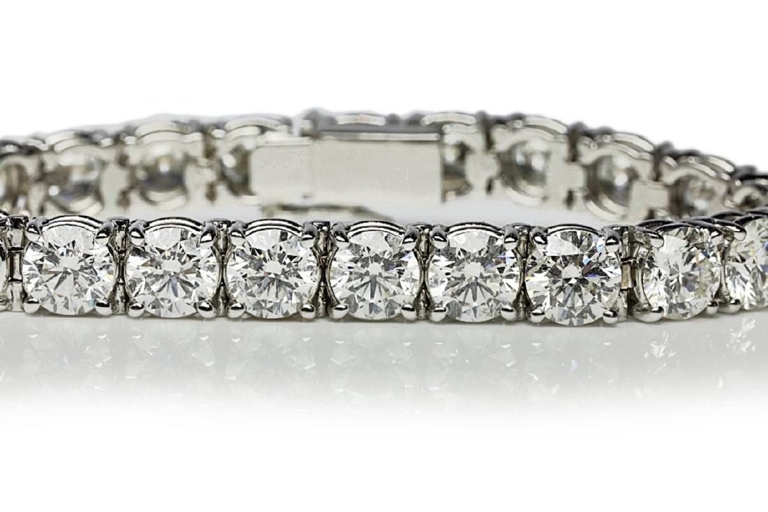 """27.50ctw VS1-VS2/G-H Diamond & 18K 7"""" Bracelet - 3"""