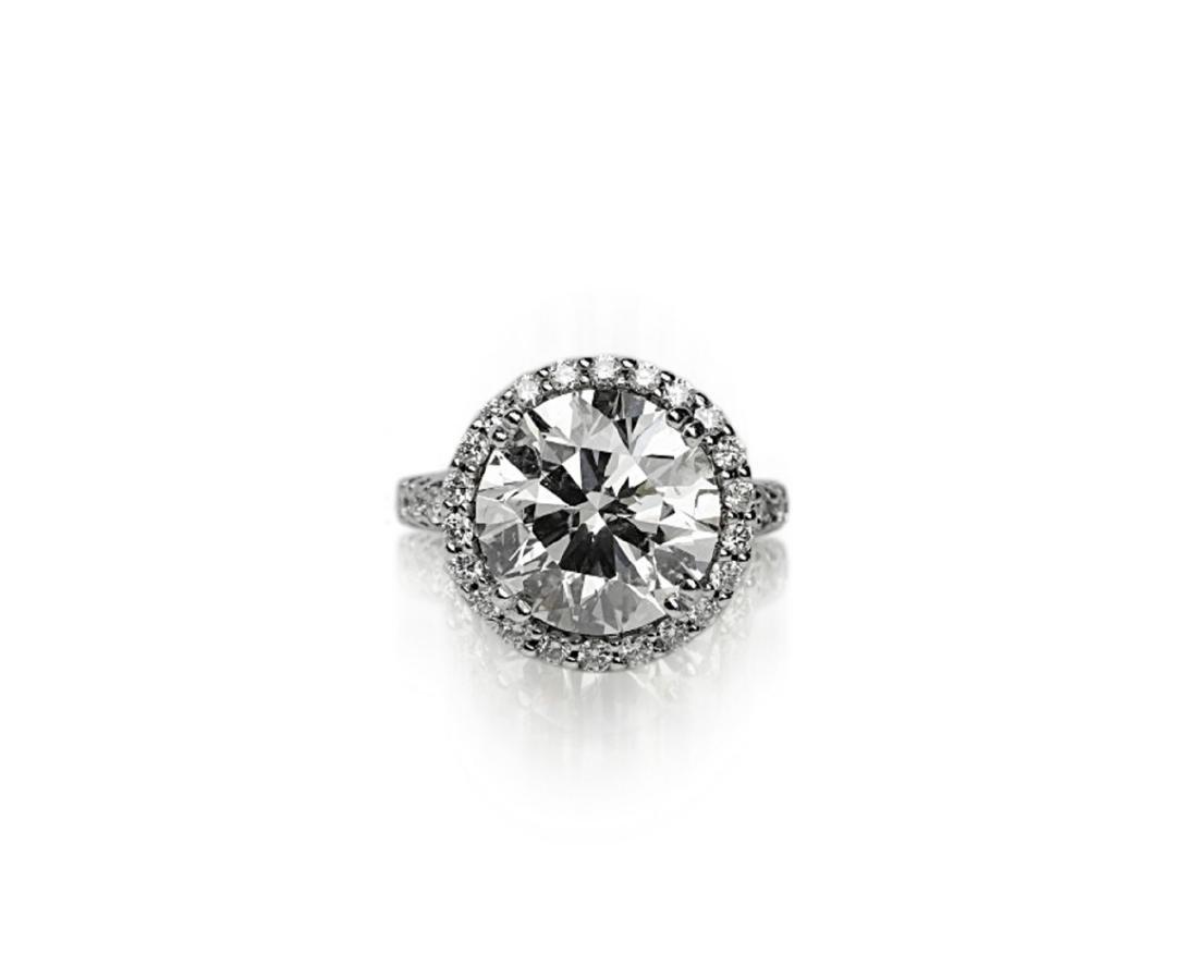 7.10ct SI1-SI2/H-I Diamond in 18K Halo Setting