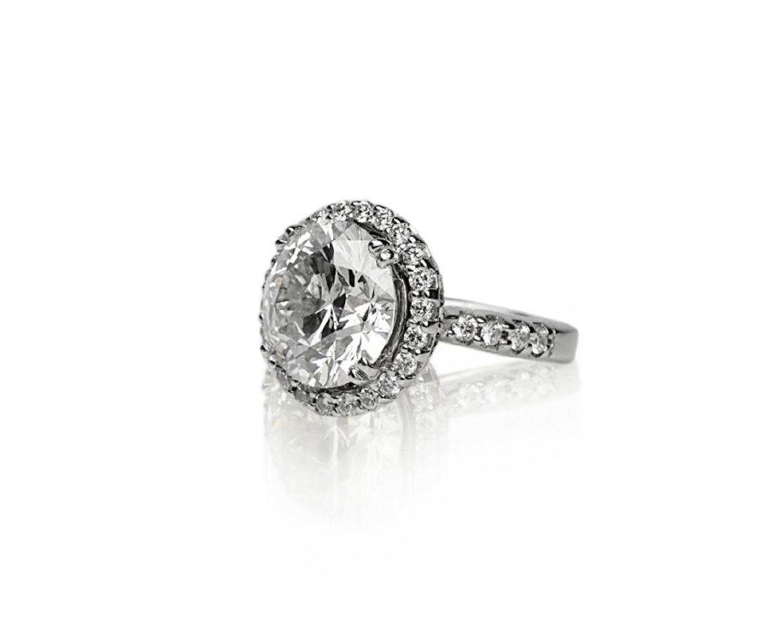 7.10ct SI1-SI2/H-I Diamond in 18K Halo Setting - 2