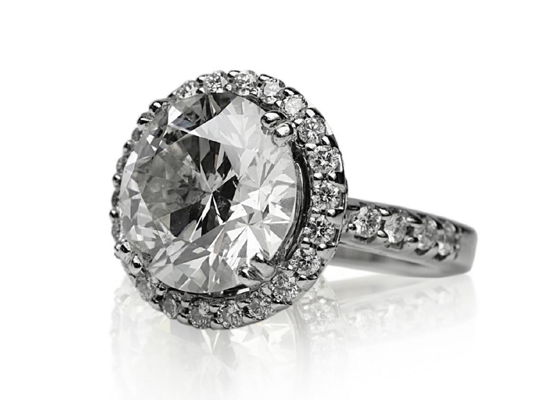7.10ct SI1-SI2/H-I Diamond in 18K Halo Setting - 5