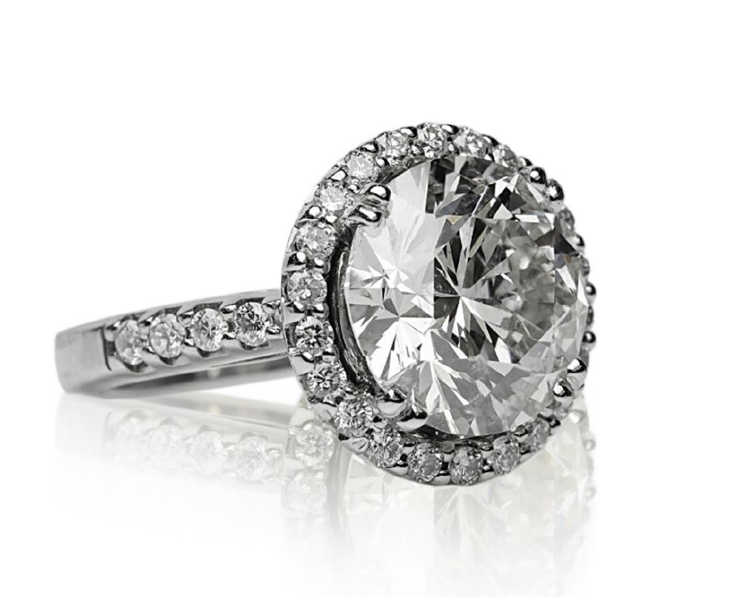 7.10ct SI1-SI2/H-I Diamond in 18K Halo Setting - 6