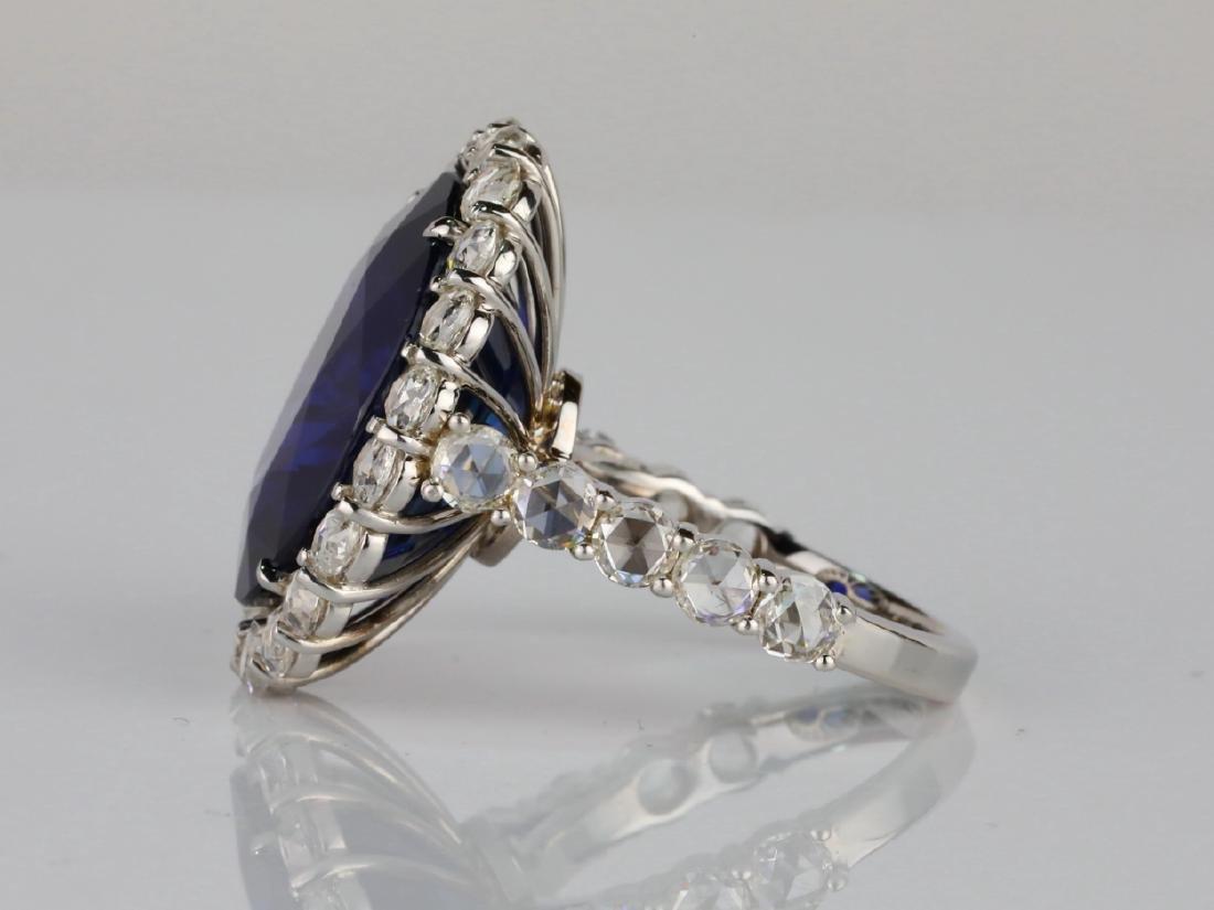 20.30ct Blue Sapphire, 4.50ctw Diamond & 18K Ring - 6
