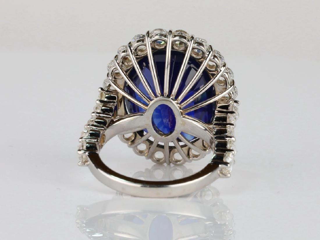 20.30ct Blue Sapphire, 4.50ctw Diamond & 18K Ring - 8