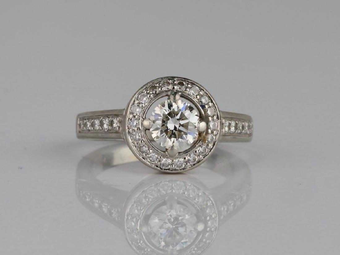 1.05ctw VS2-SI1/G-H Diamond & Solid Platinum Ring