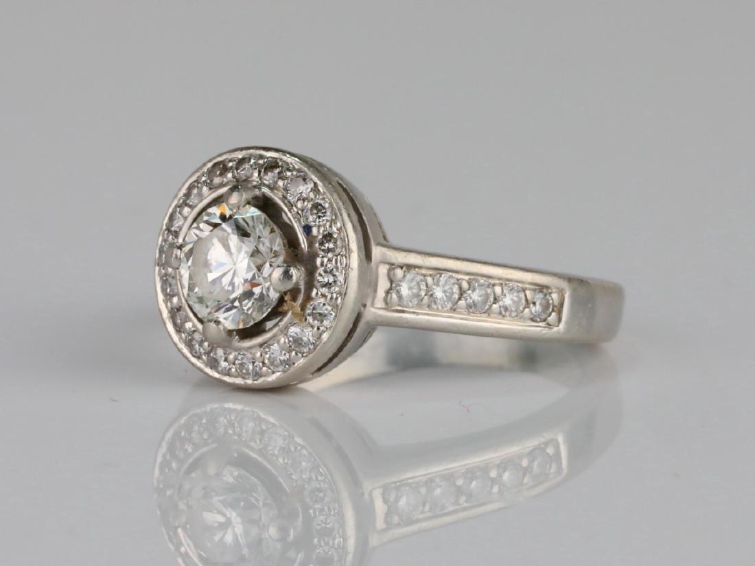 1.05ctw VS2-SI1/G-H Diamond & Solid Platinum Ring - 2