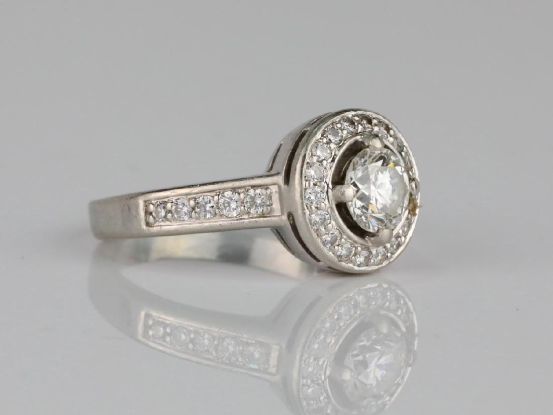 1.05ctw VS2-SI1/G-H Diamond & Solid Platinum Ring - 3