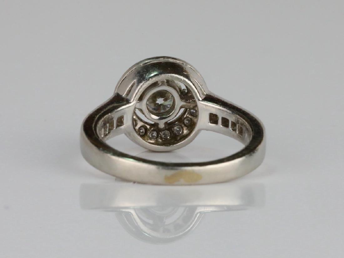 1.05ctw VS2-SI1/G-H Diamond & Solid Platinum Ring - 4