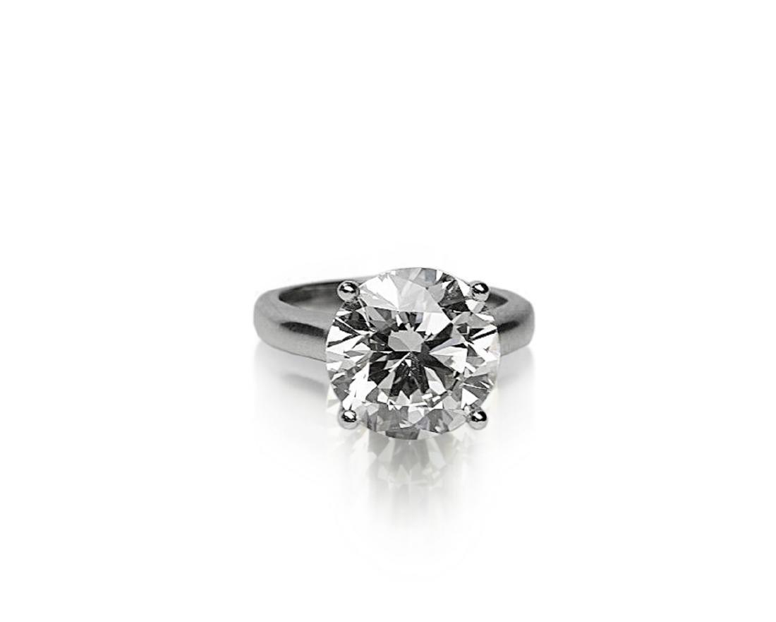 6.11ct GIA SI1/K Diamond in Platinum Band