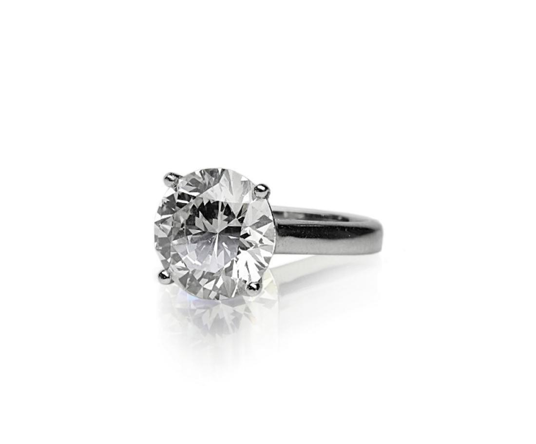 6.11ct GIA SI1/K Diamond in Platinum Band - 2