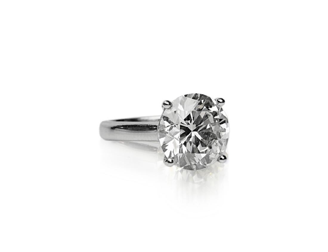 6.11ct GIA SI1/K Diamond in Platinum Band - 3