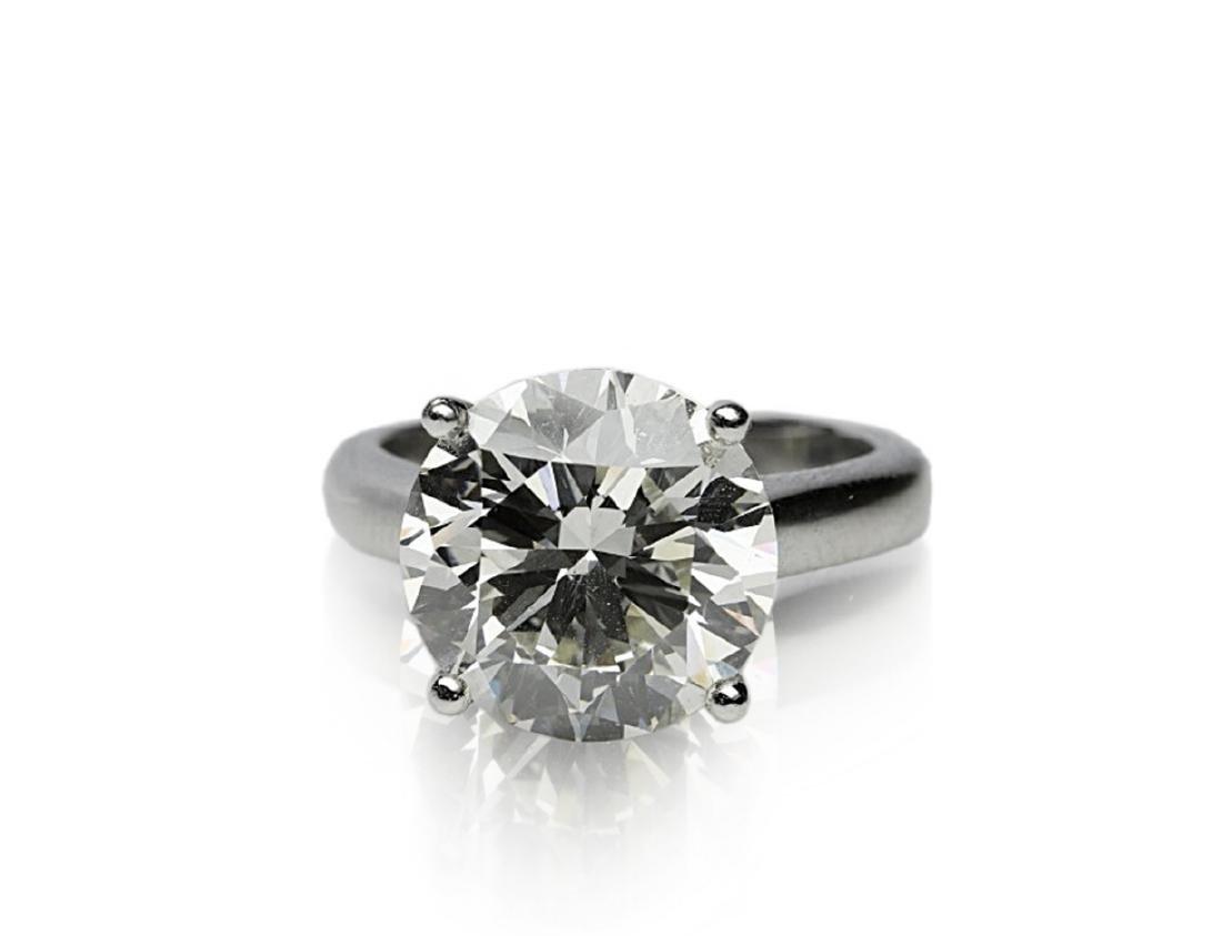6.11ct GIA SI1/K Diamond in Platinum Band - 4