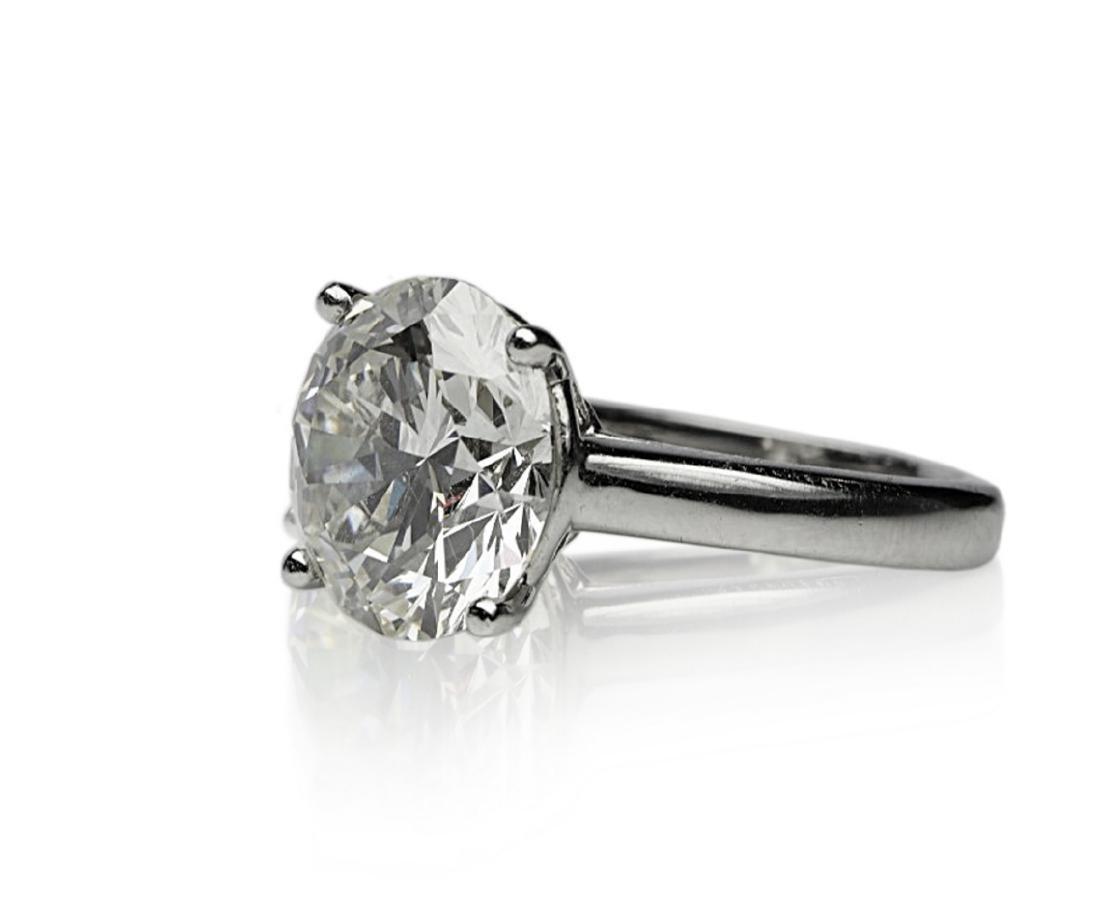 6.11ct GIA SI1/K Diamond in Platinum Band - 5