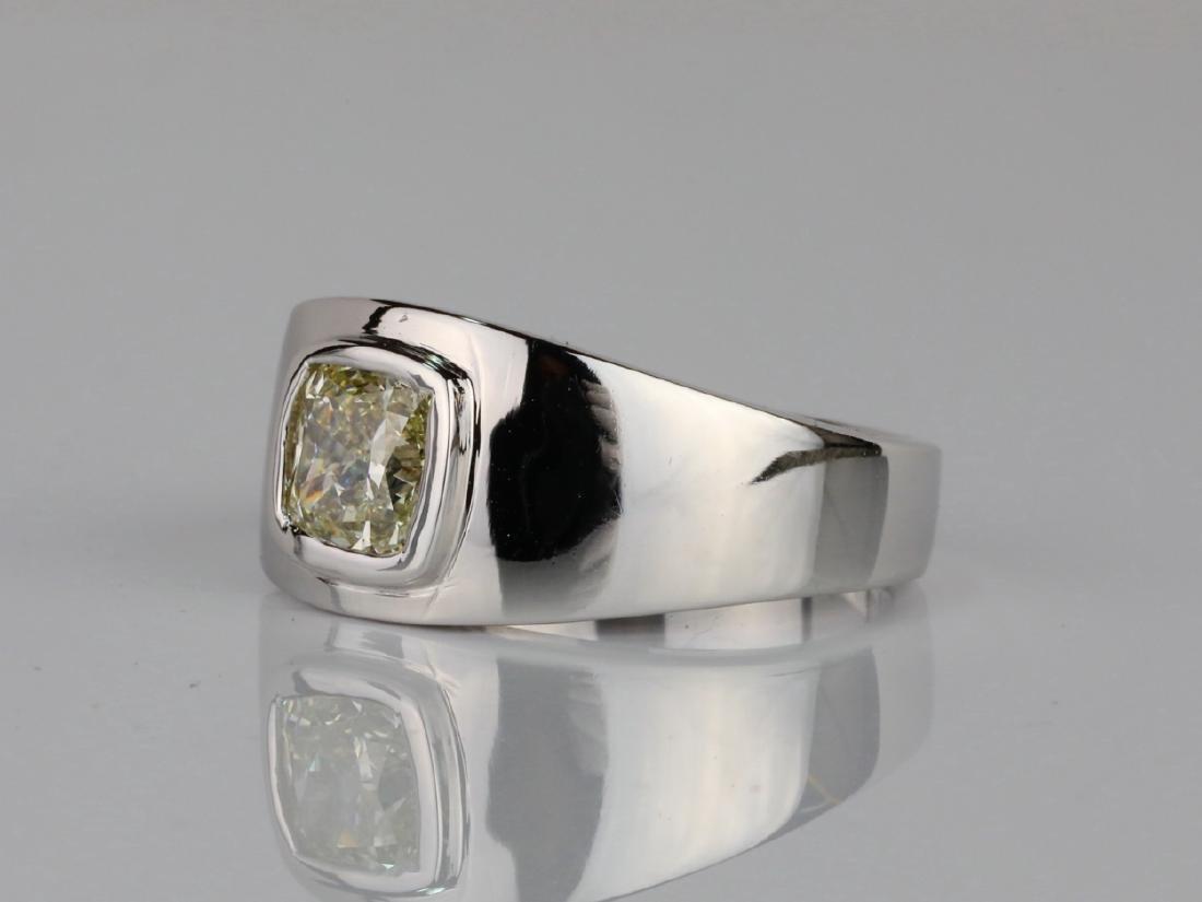 2.01ct Yellow Diamond 18K Men's Ring W/IGL Report - 3