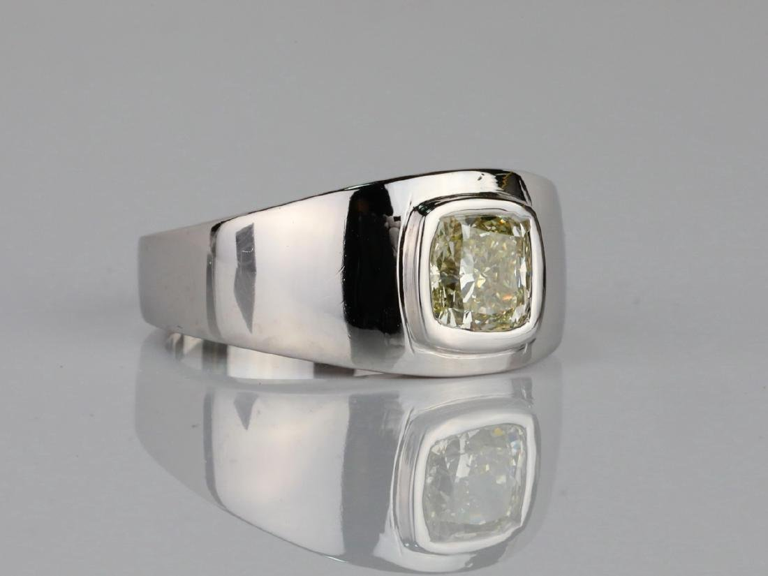 2.01ct Yellow Diamond 18K Men's Ring W/IGL Report - 4