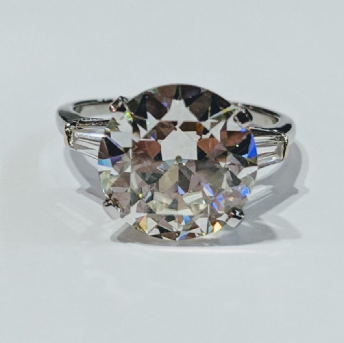 5.38ct GIA VS2/L Diamond, .30ctw Diamond 18K Ring